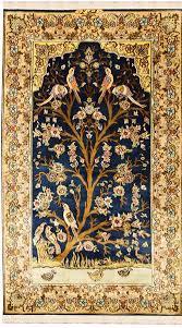oriental design 3 x5 tree of life blue silk rug birds carpet oriental design accent