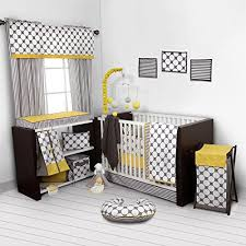 yellow and grey nursery bedding