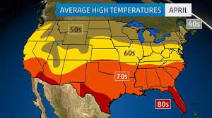 Climate Map Of Usa by Monthly Average Temperatures Weather Com
