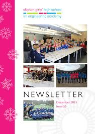 sghs newsletter issue 56 december 2015 by skipton girls u0027 high