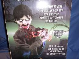 new spirit lifesize animated eating zombie boy halloween decor