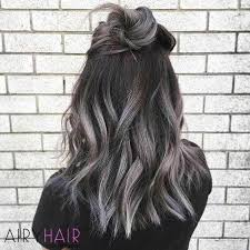 black low lights for grey low lighting grey hair lilianduval highlighting grey hair at home