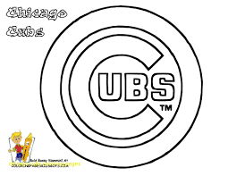 Chicago Cubs Coloring Pages chicago cubs coloring pages with grand baseball coloring mlb
