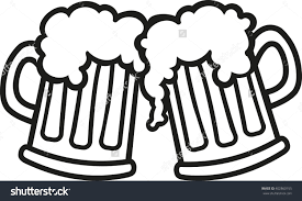 cartoon beer black and white beer mugs clipart clipground