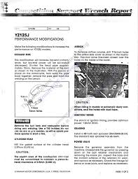 1982 yamaha yz125 wrench report old moto motocross