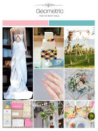 inspiration board geometric weddings illustrated