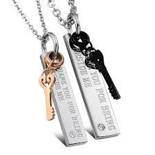 couple necklace key images Fate love brand couple necklace pendants key for men women jpg