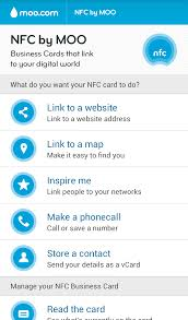 how to use pure nfc app with no 1 s9 electronic business card