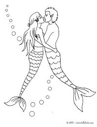 mermaid coloring pages online games diving couple page fantasy