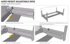 Height Adjustable Desk by Aero Straight Height Adjustable Desk Office Stock