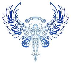 tribal bird open wings tattoo clip art library
