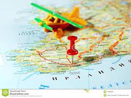 Map Of Dublin Ireland Dublin Ireland United Kingdom Map Airplane Stock Photo Image
