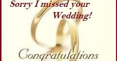 wedding wishes not attending belated wedding congratulation messages