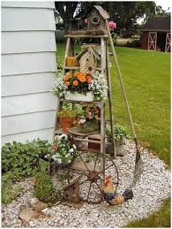 outdoor decor 6 outdoor decor ideas with ladder for outdoor garden