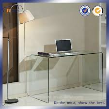 Study Table by Modern Tempered Bent Glass Study Table For Students Buy Study