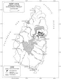 St Lucia Map 1 The Land Problem In Saint Lucia And The Formulation Of An