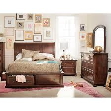 Brown Mango Bedroom Set Rooms To Go Hanover 6 Piece Queen Storage Bedroom Set Cherry American