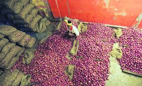 vashi market onion supply dips prices up 352 indian express