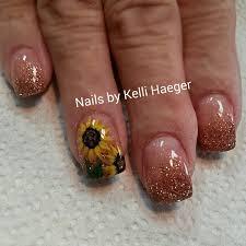 15 sunflower nail designs for the season sunflower nail art