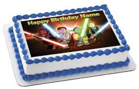 wars edible image lego wars 3 edible birthday cake or cupcake topper edible