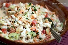 cuisine tahitienne recettes recette salade de poisson à la tahitienne 750g