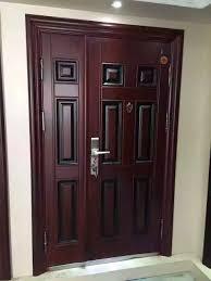 cheap garage security steel door lock entry room aluminium