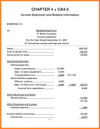 Net Income Statement Template by 5 Partial Income Statement Example Statement Synonym