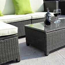 Patio Sofa Costway Outdoor Patio 5pc Furniture Sectional Pe Wicker Rattan