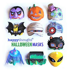 printable halloween masks download easy to make mask templates now
