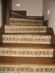 mexican tile stair risers decorating with talavera tiles