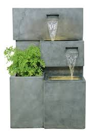 Garden Wall Troughs by Higgledy Troughs Water Feature And Planter With Lights Amazon Co