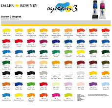 acrylic paint colours chart real fitness