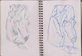 suburban sketches part 4 exercise 1 drawing fabric using line