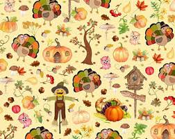 thanksgiving material thanksgiving fabric etsy