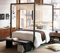 Black King Canopy Bed Black Wooden King Canopy Bed And Sheer Fabric Furniture King