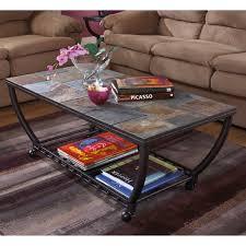 furniture of america eddison industrial coffee table hayneedle