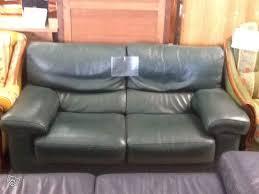 canap cuir vert canapé cuir vert 2 places 2061 à vendre à la flèche en sarthe