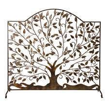 leaf fireplace screen home design inspirations