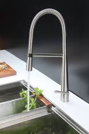 stainless steel kitchen faucets ruvati rvf1225bn single handle pull down kitchen faucet stainless