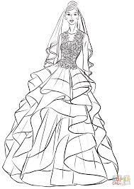 pretty bride coloring free printable coloring pages