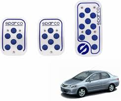 sparco anti slip 3d dot kit set of 3 blue honda city zx car pedal