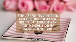 congratulate engagement your and commitment for each other has reached new heights