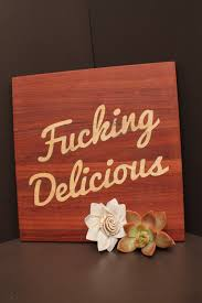 unique house warming gifts wooden cutting board fucking delicious letter beachwood material