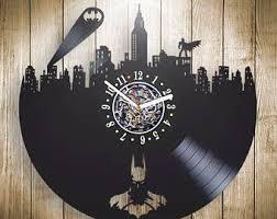 Batman Home Decor Batman Vinyl Clock Batman Wall Art Marvel Wall Decor Batman