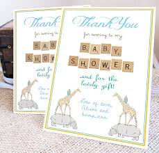 thank you card for baby shower thank you card random sles of personalized baby shower thank