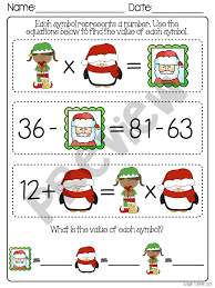 christmas brain busters math logic problems all 4 operations