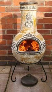 Extra Large Clay Chiminea Mexican Clay Chimenea Mayan Aztec Chiminea Patio Heater Fire Bowl