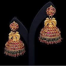 fancy jhumka earrings earring jhumkas gold designer diamond pearl silver