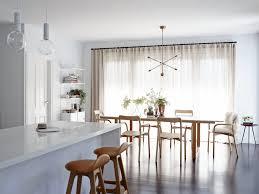 mid century floor lamps brighten up open plan living room
