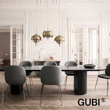 moon dining table rectangular gubi metropolitandecor